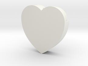 Heart shape DuoLetters print in White Natural Versatile Plastic