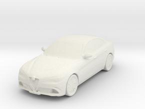 Alfa Romeo Giulia 2016 1/120 in White Natural Versatile Plastic