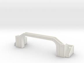 Railway Foot Bridge long 1/350 in White Natural Versatile Plastic