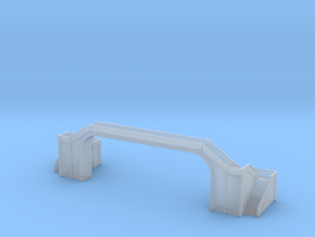 Railway Foot Bridge long 1/500 in Smooth Fine Detail Plastic