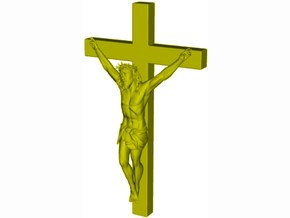 1/35 scale Jesus Christ crucified - WITH cross in Smooth Fine Detail Plastic