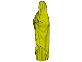 1/18 scale female with long cloak praying figure in Smooth Fine Detail Plastic