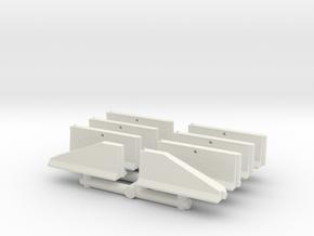 Jersey Barrier short set (x8) 1/87 in White Natural Versatile Plastic