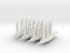 1/900 Galley game pieces, 4 in White Natural Versatile Plastic