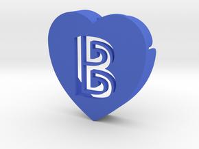 Heart shape DuoLetters print B in Blue Processed Versatile Plastic