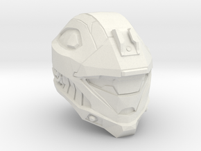 1/6 scale reconnaissance helmet in White Strong & Flexible