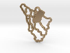 Campanilismo Toscano: Firenze (Grande) in Polished Gold Steel