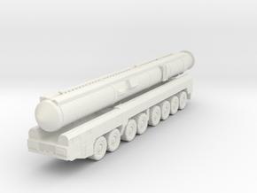 RT-2PM2 Topol-M ICBM 1/220 in White Natural Versatile Plastic