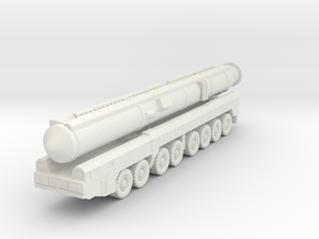 RT-2PM2 Topol-M ICBM 1/100 in White Natural Versatile Plastic