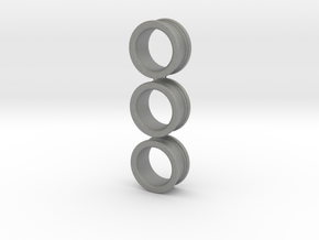 03x Size 3 Finger-Rings (large) in Gray PA12
