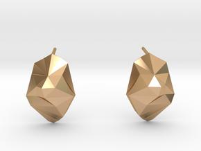 iceberg earrings in Polished Bronze