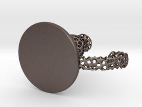 Voronoi Candle Holder in Polished Bronzed-Silver Steel