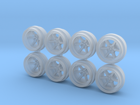 K-Roku 85-0 Hot Wheels Rims in Smooth Fine Detail Plastic