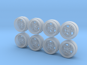 KLU 9-0 Hot Wheels Rims in Smooth Fine Detail Plastic