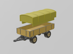 German 5 ton Trailer 1/56 in White Natural Versatile Plastic