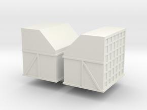 AMX Air Cargo Container (x2) 1/200 in White Natural Versatile Plastic