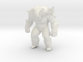 Pressure zombie miniature model game horror Dnd in White Natural Versatile Plastic