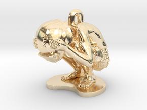 Schoony - Boy Soldier Duck & Cover Pendant in 14K Yellow Gold