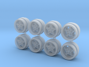 Speedline Cup 7-3 Hot Wheels Rims in Smooth Fine Detail Plastic