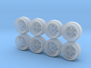 SSR Starshark Hot Wheels Rims in Smooth Fine Detail Plastic
