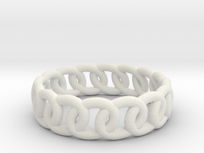 GBW14 Lds Band in White Natural Versatile Plastic