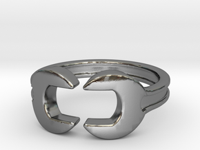 Wrench ring [sizable ring] in Polished Silver