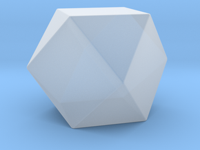 Cuboctahedron - 10 mm - Rounded V1 in Smooth Fine Detail Plastic