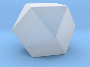 Cuboctahedron - 10 mm - Rounded V2 in Smooth Fine Detail Plastic