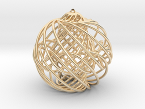 Christmas Ornament in 14k Gold Plated Brass