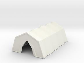 Military Tent 1/144 in White Natural Versatile Plastic