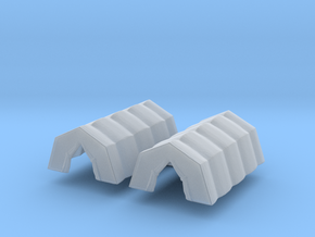 Military Tent (x2) 1/400 in Smooth Fine Detail Plastic