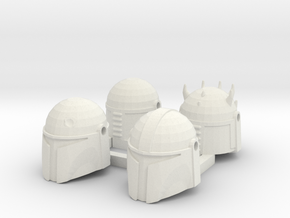 LEGO Compatible Mando Helmets Din Boba Watch Death in White Natural Versatile Plastic