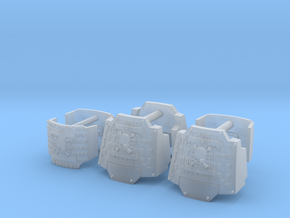 Commission 175 DW Dreads shoulder pads x6 in Smooth Fine Detail Plastic