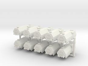1/285 Armored Train x10 in White Natural Versatile Plastic