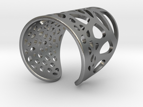 Lace Skin Ring in Natural Silver: Medium
