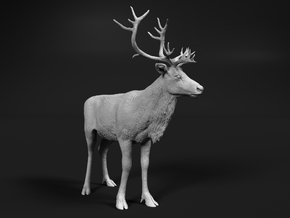Reindeer 1:32 Standing Female 3 in Smooth Fine Detail Plastic