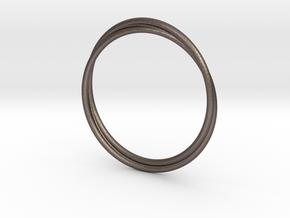 Infinity Bracelet in Polished Bronzed Silver Steel