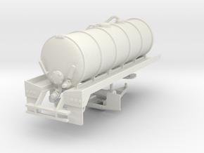 1/50th 20' Liquid Manure fertilizer tanker trailer in White Natural Versatile Plastic