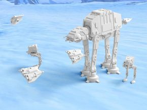 Theme: Battle of Hoth in White Strong & Flexible