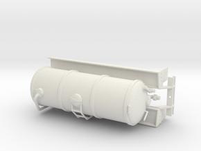 1/64th Liquid Manure Fertilizer tanker body in White Natural Versatile Plastic