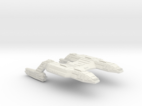 3125 Scale Lyran X-Ship Command Cruiser (CCX) CVN in White Natural Versatile Plastic