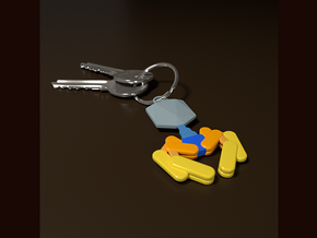 Bacteriophage Keychain in White Natural Versatile Plastic
