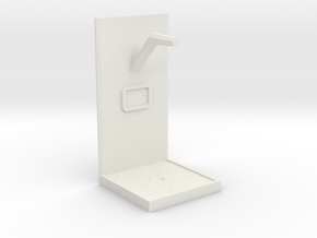 Future Shower Unit - 28mm to 32mm scale in White Natural Versatile Plastic