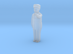 Capsule Worker bent left arm 2 in Smooth Fine Detail Plastic