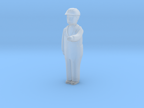 Capsule Worker HH Bent Arm Left 2 in Smooth Fine Detail Plastic