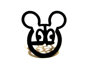 mickeymouse ring size 6 in Black Natural Versatile Plastic
