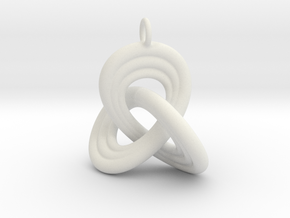 Trefoil knot 2011281223 in White Natural Versatile Plastic
