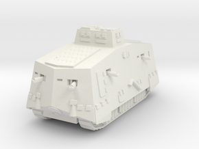 A7V 501 female Tank 1/144 in White Natural Versatile Plastic