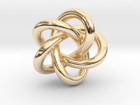 5 Infinity Knot in 14K Yellow Gold