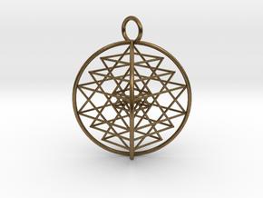 3D Sri Yantra 4 Sided Symmetrical in Natural Bronze